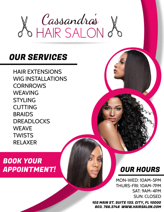 Hair Salon Flyer (US-Letter) template