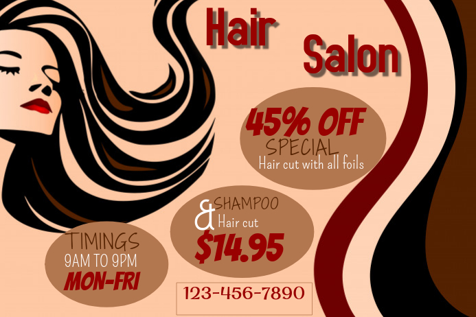 Merveilleux Hair Salon Flyer Template