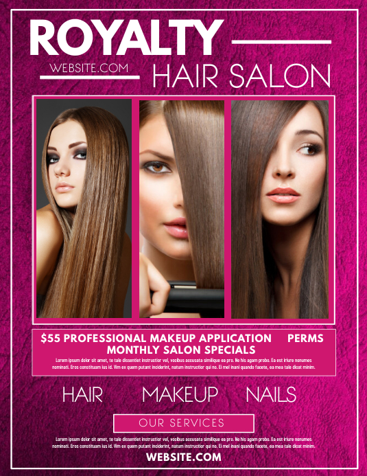 Hair Salon Pamflet (Letter AS) template