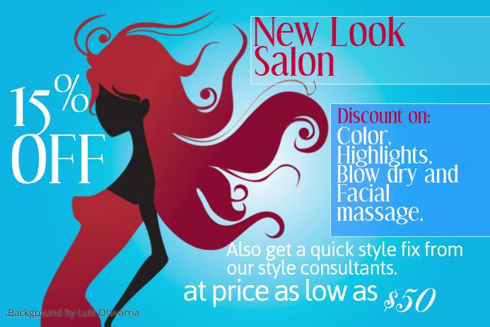 Salon Business Flyer Template
