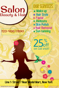 Beauty and Hair Salon Flyer Template