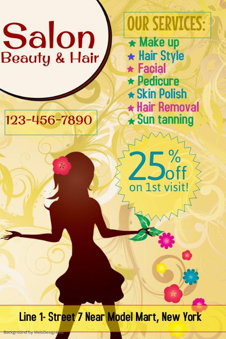 Beauty and Hair Salon Flyer Template