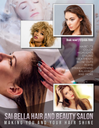hair salon hair dresser ad Flyer Template