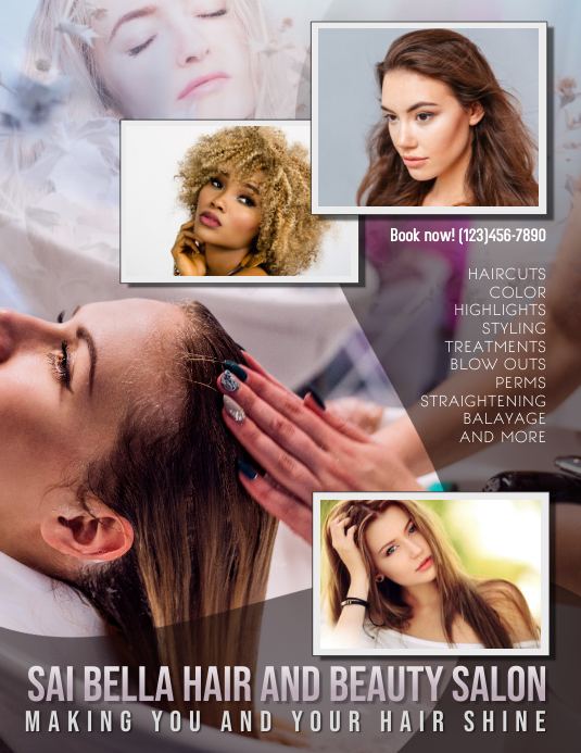 hair salon hair dresser ad Flyer Template