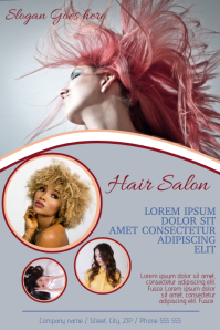 Hair Salon Hairdresser Advertising Flyer Poster Template