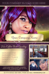 hair salon hairdressing luxury flyer template