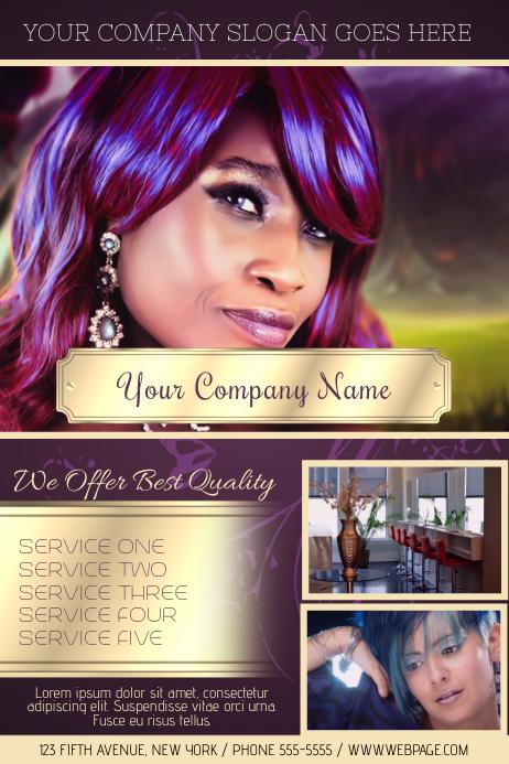 hair salon hairdressing luxury flyer template
