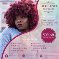 Hair Salon Instagram Ad Design template