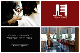 hair salon landscape poster template