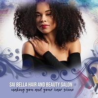 hair salon makeup artist Instagram ad Cuadrado (1:1) template
