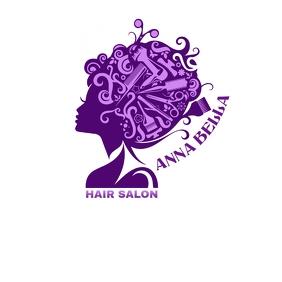HAIR SALON NAIL & SPA BEAUTY SALON Logo template