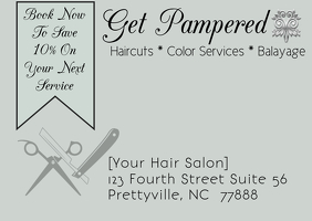 Hair Salon Post Card