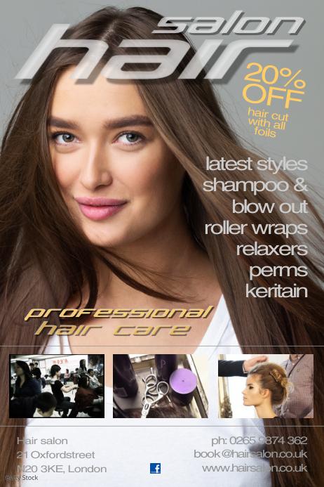 Hair Salon Poster Template Cartaz