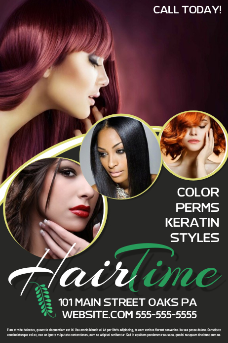 Hair Salon Плакат template