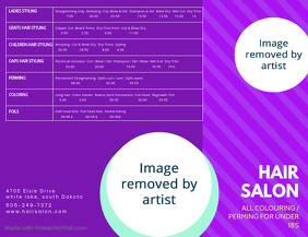 Hair Salon Price List Flyer Template