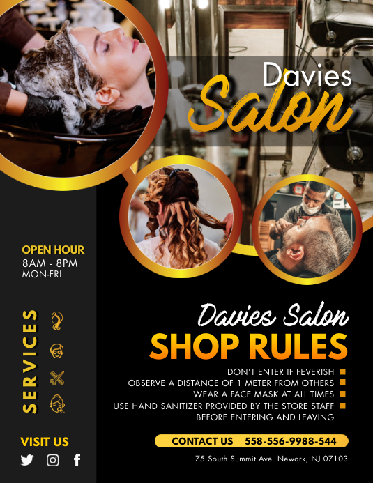 Download Advertising Hair Salon Poster Pictures