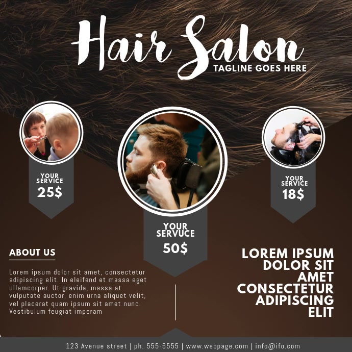 Hair Salon Video Ad design for Instagram