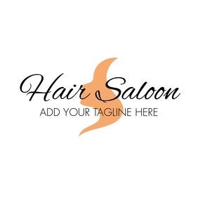 Hair saloon hair stylist logo template design