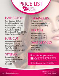 Hair Service Flyer (US Letter) template