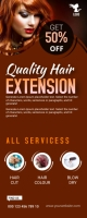 Hair Style Roll Up Banner Rolbanner 2' × 5' template