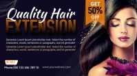 Hair Style Twitch Banner template