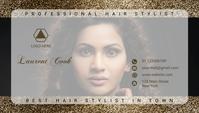 hair stylist business card template Tarjeta de Presentación