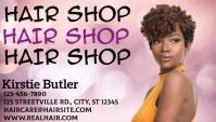 Hair weave salon stylist business card template