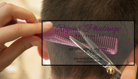 hairdressed business card template