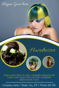 Hairdresser business advertising poster flyer template