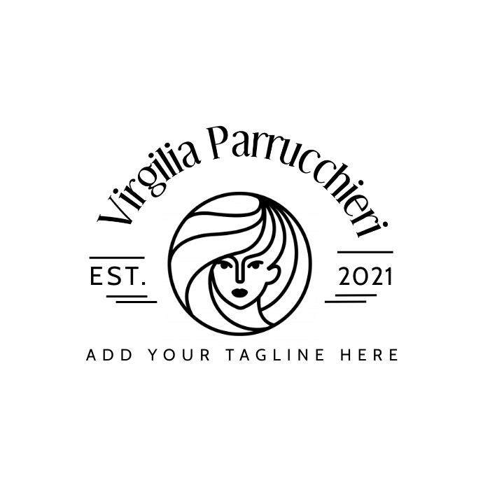 hairdresser fashion logo icon template design