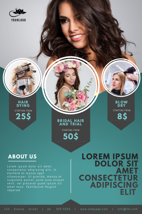 Hairdresser Flyer Template Cartaz