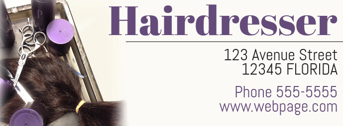 Hairdresser Hairdressing Beauty salon facebook cover