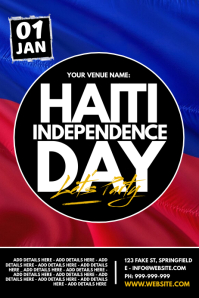 Haiti Independence Day Poster template
