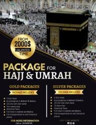 hajj, Hajj and Umrah Flyer (US Letter) template