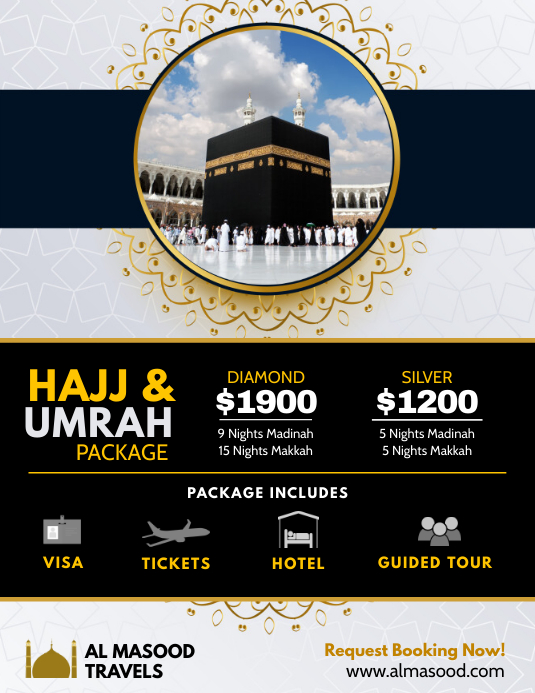 Hajj and Umrah Package Travel Agency Flyer template