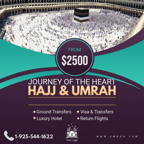 Hajj and Umrah Travel Package Online Ad