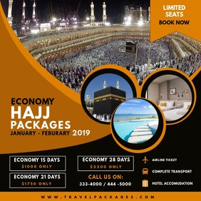 Hajj and Umrah Travel Plans Advert Square (1:1) template