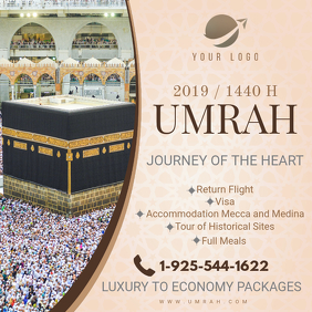 Hajj/Umrah Travel Package Online Advert Instagram Post template