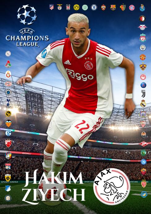 Hakim Ziyech Ajax Poster