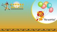 Hakuna Matata Events Business Card Template Визитная карточка