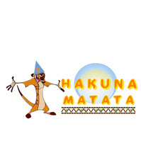 Hakuna Matata Logo Design template
