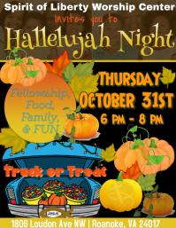 Hallelujah Night Flyer (US Letter) template