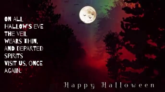 Hallow's Eve Spirits Scary Music Video Pantalla Digital (16:9) template