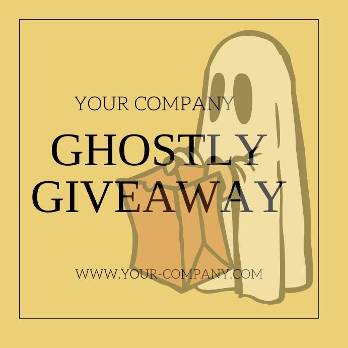 Hallowe'en Ghostly Giveaway Instagram Post template