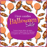 Halloween, Candy Sale Instagram na Post template
