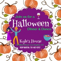 Halloween, Dinner & Dance Wpis na Instagrama template