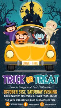 halloween, drive-thru trick or treat Digitalanzeige (9:16) template