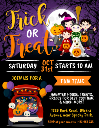 halloween, drive-thru trick or treat Flyer (US Letter) template