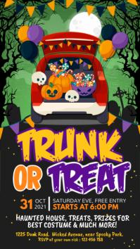 halloween, drive-thru trick or treat Instagram Story template