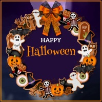 Halloween, Greeting Card Wpis na Instagrama template